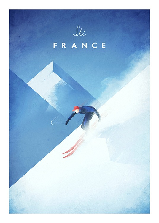 Ski France Poster / Henry Rivers at Desenio AB (11984)
