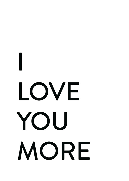 Each Day I Love You No2 Poster / Text posters at Desenio AB (12009)