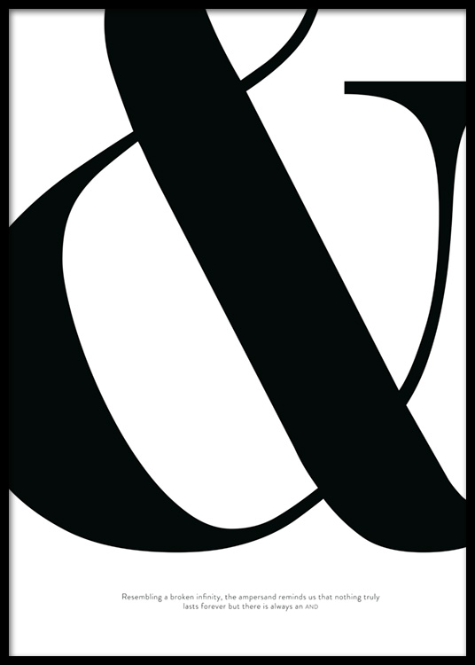 Didot Ampersand Poster