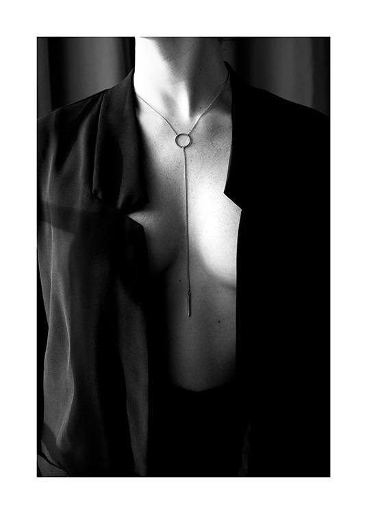 Woman With Necklace Poster / Black & white at Desenio AB (12017)