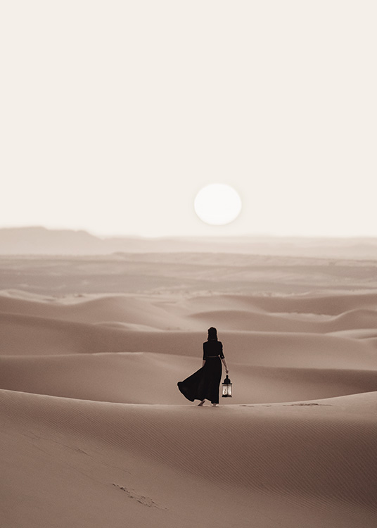 Woman in Desert Poster / Nature prints at Desenio AB (12341)