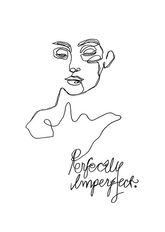 Imperfect Line Art Poster / Illustrations at Desenio AB (12359)