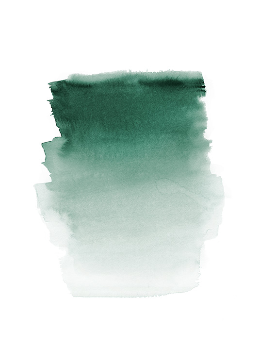 Green Watercolor Poster / Abstract art prints at Desenio AB (12410)