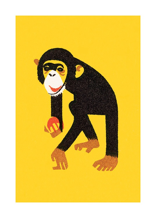 Vintage Monkey Poster / Kids wall art at Desenio AB (12468)