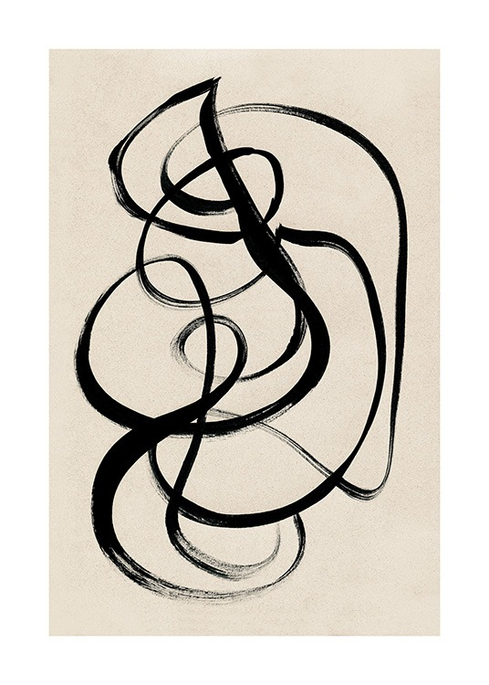 Black Ink Swirls Poster / Art prints at Desenio AB (12513)