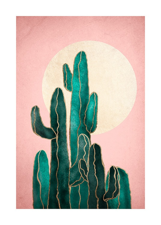 Pink Sky Cactus Poster / Art prints at Desenio AB (12562)