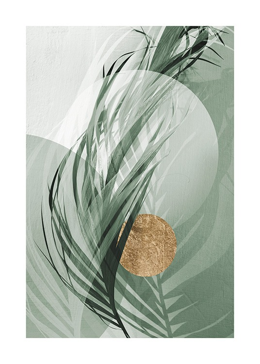 Graphic Palm Leaf No1 Poster / Photographs at Desenio AB (12587)