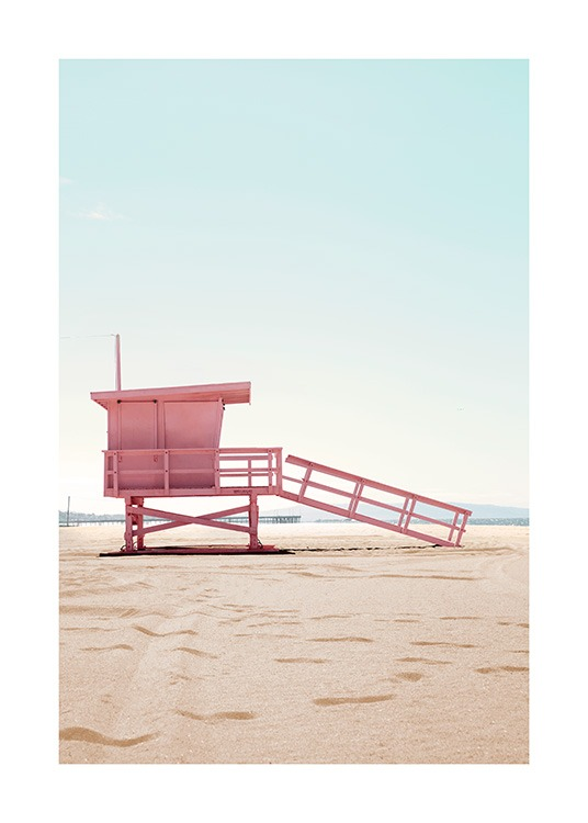 Lifeguard Hut Poster / Nature prints at Desenio AB (12635)