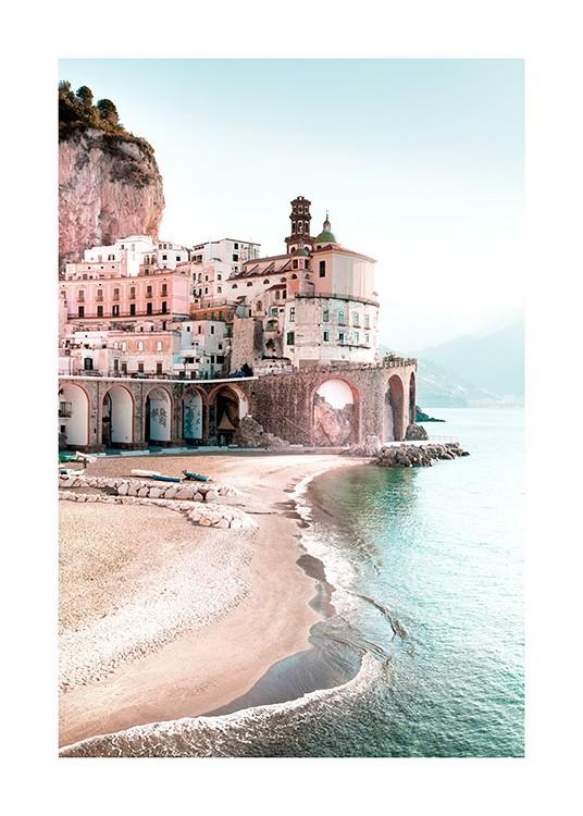 Amalfi Cityscape Poster