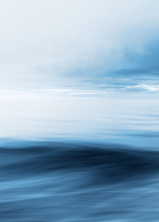 - Photograph of a blurry blue horizon with abstract lines