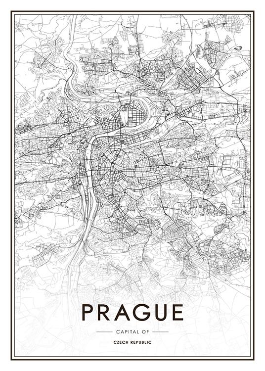 Prague Map Poster