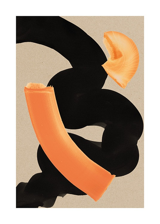 Curvy Strokes Poster / Paintings at Desenio AB (13619)