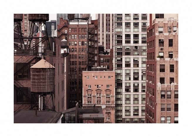 New York Facades Poster / New York wall art at Desenio AB (13659)