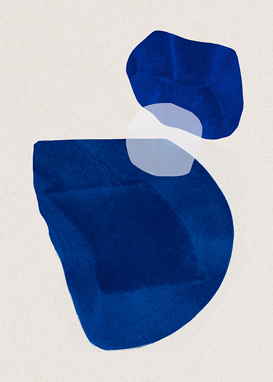 Cobalt Shapes No2 Poster / Abstract art prints at Desenio AB (13662)