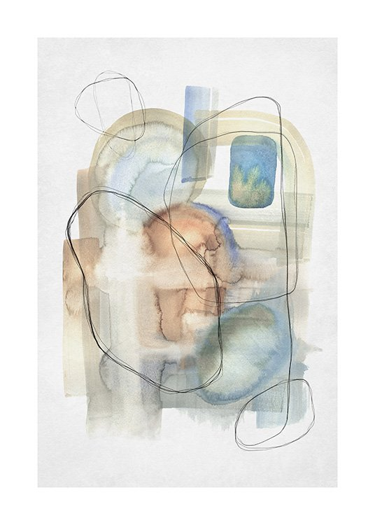Abstract Calm No2 Poster / Abstract art prints at Desenio AB (13674)