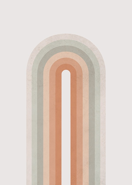 Pastel Rainbow Poster / Graphical at Desenio AB (13728)