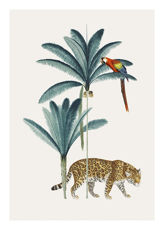 Royal Botanical Leopard Poster / Wild animals at Desenio AB (13735)