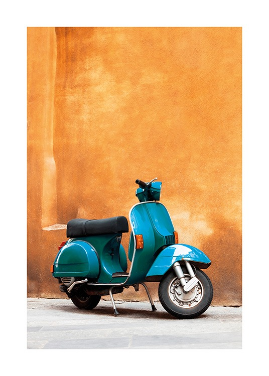 Blue Scooter Poster / Photographs at Desenio AB (13747)