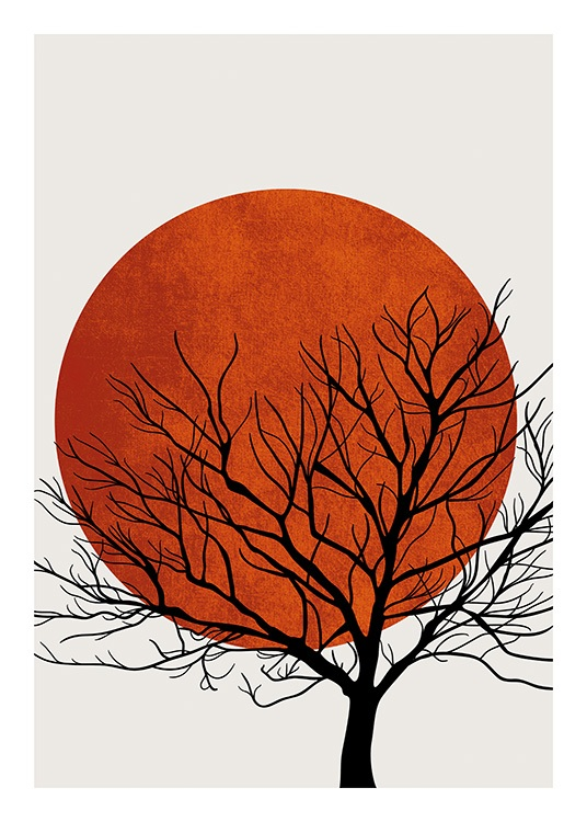 Winter Sunset Poster / Nature prints at Desenio AB (13752)