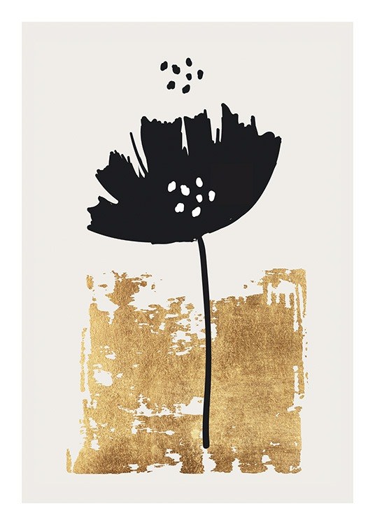 Black Poppy Poster / Flowers at Desenio AB (13754)