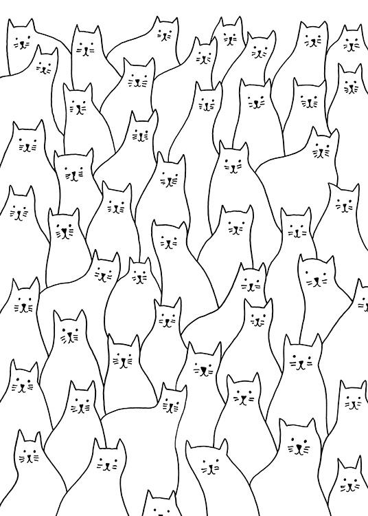 White Cats Poster / Pets at Desenio AB (13793)