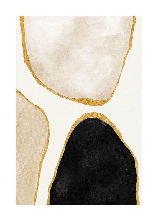 Gilded Shapes No2 Poster / Abstract art prints at Desenio AB (13812)