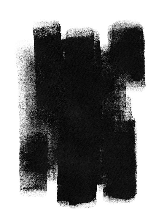 Paint it Black No1 Poster / Abstract art prints at Desenio AB (13815)