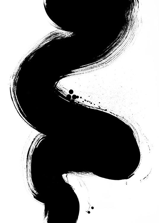 Black Paint Strokes No1 Poster / Abstract art prints at Desenio AB (13817)