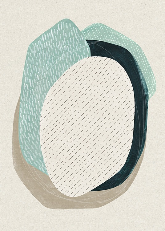 Oval Composition No1 Poster / Abstract art prints at Desenio AB (13845)