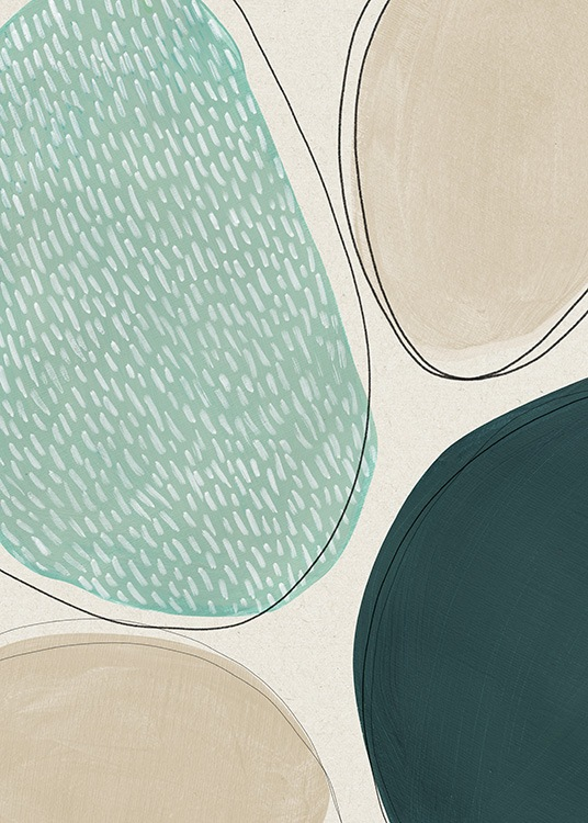 Oval Composition No2 Poster / Abstract art prints at Desenio AB (13846)