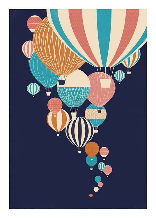 Balloons in the Sky Poster / Kids' posters at Desenio AB (13925)