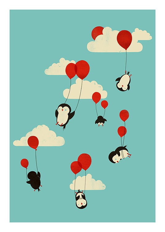 We Can Fly Poster / Animal illustrations at Desenio AB (13934)