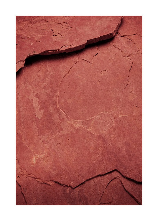 - Photograph of a big rock in red