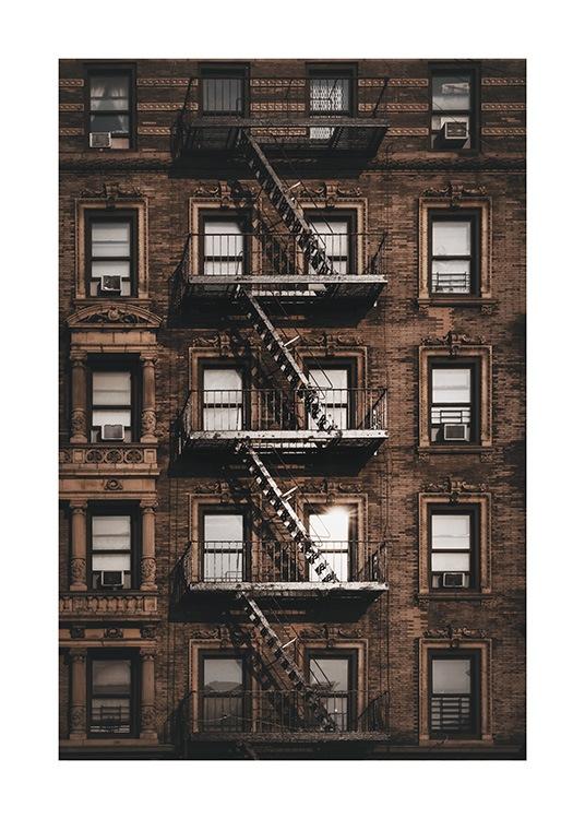 New York Fire Escape Poster