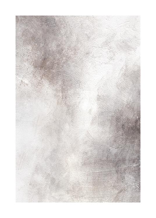 – Painting with abstract design in various shades of grey with white details