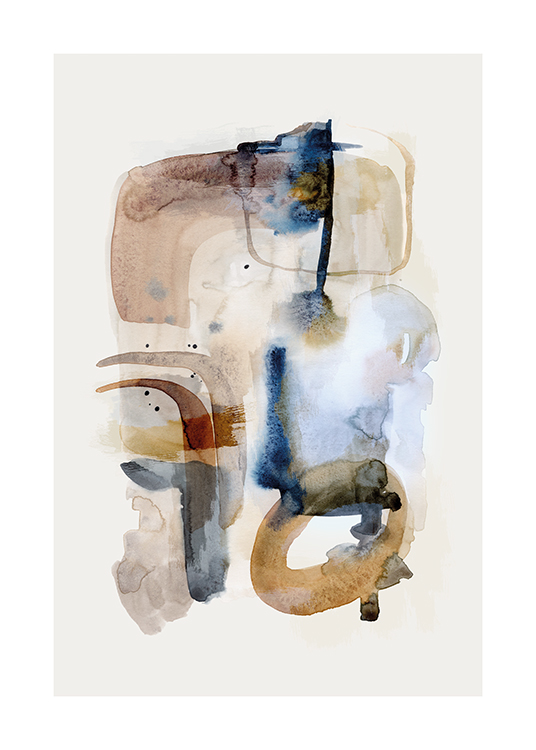 Earthy Watercolor No1 Poster / Abstract art prints at Desenio AB (15963)