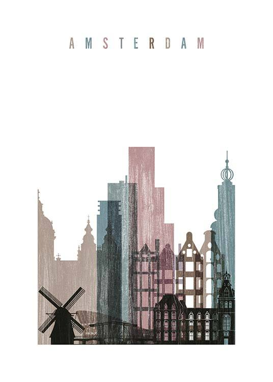 Amsterdam Skyline Poster / Maps & cities at Desenio AB (2144)