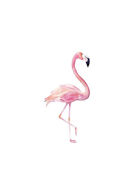 Flamingo Aquarelle  Poster / Kids wall art at Desenio AB (2222)