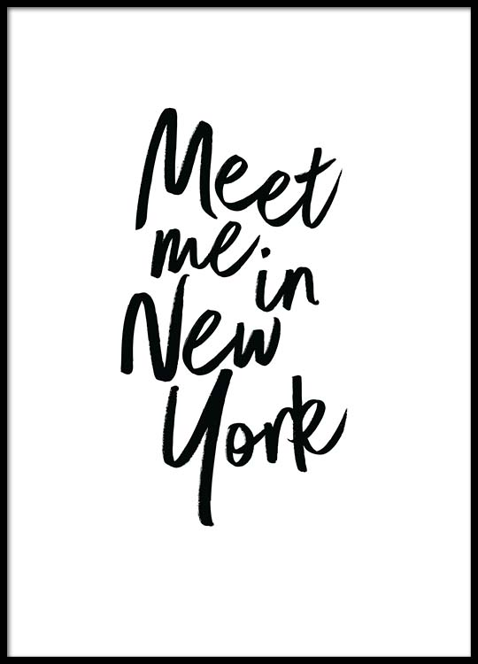 meet me in new york poster. Black Bedroom Furniture Sets. Home Design Ideas