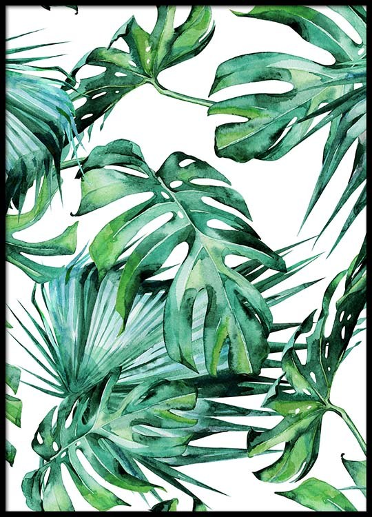 Tropical Leaves Pattern Poster Enchanting Tropical Leaves Pattern