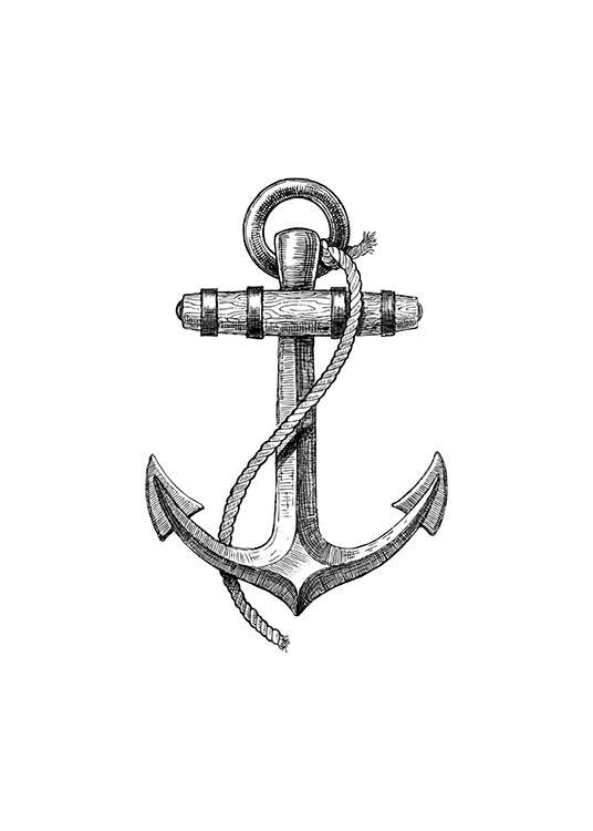 - Stylish drawing of an old anchor for all those sea dogs among us.