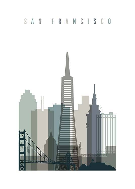 San Francisco Skyline Poster / Maps & cities at Desenio AB (2349)