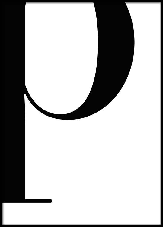 Letter P Poster