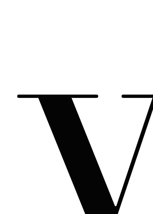 Letter V Poster