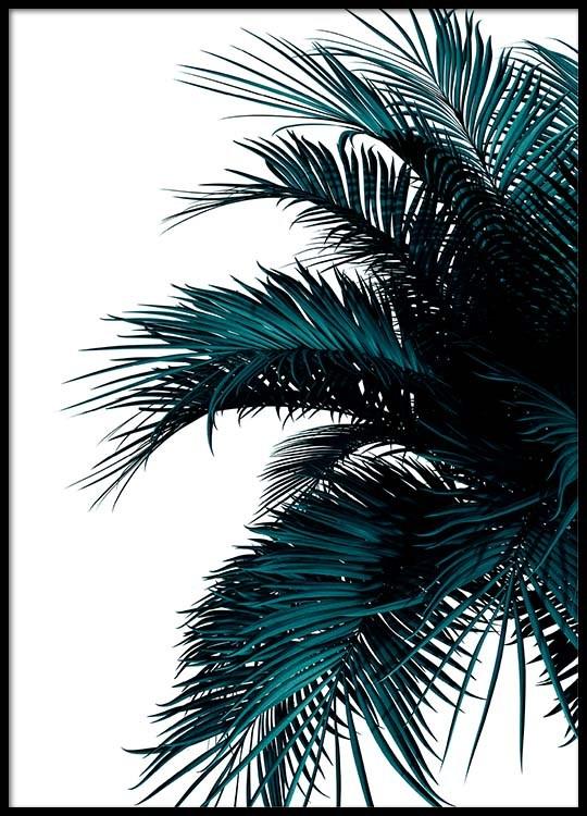 green palm tree poster. Black Bedroom Furniture Sets. Home Design Ideas