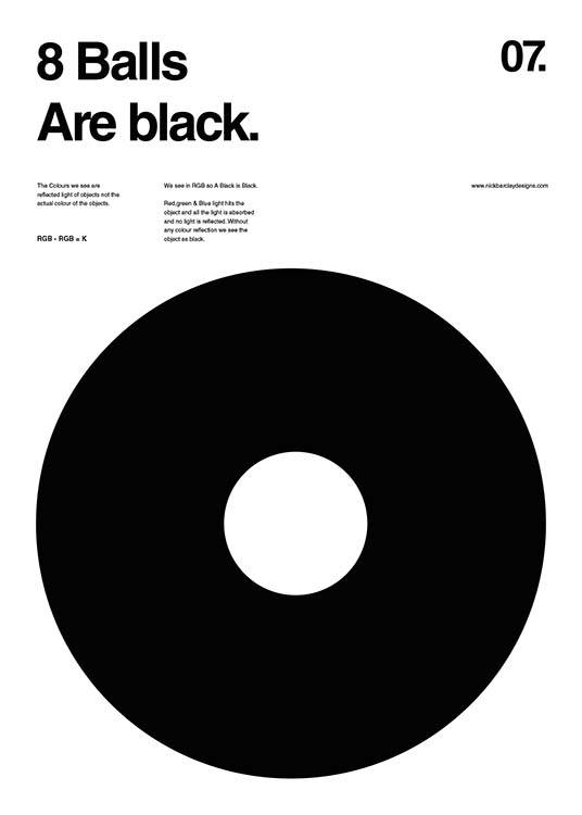 8 Balls Are Black Poster / Graphical at Desenio AB (2988)