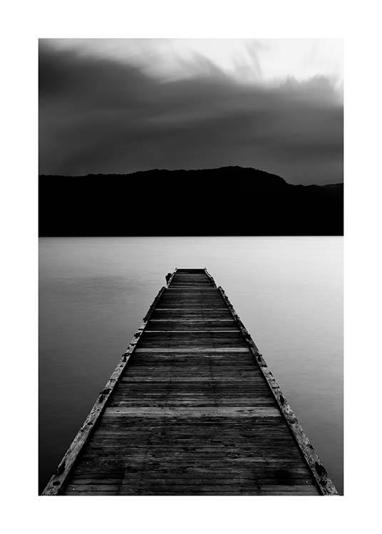 Wooden Pier Poster / Black & white at Desenio AB (3305)