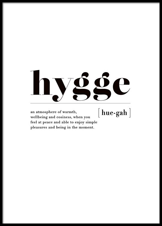hygge poster. Black Bedroom Furniture Sets. Home Design Ideas