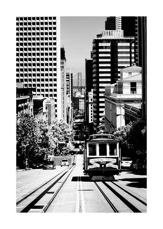 Steep Street San Francisco Poster