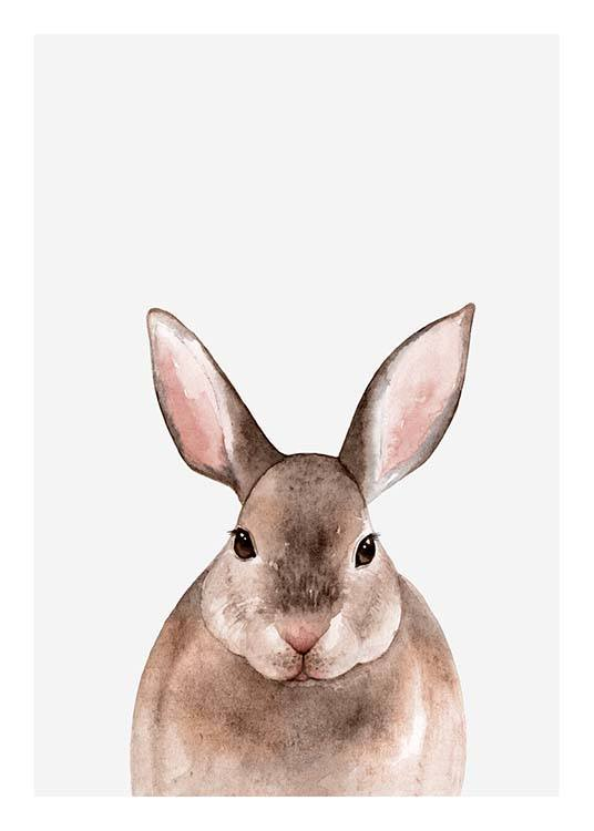 Little Rabbit Poster / Kids wall art at Desenio AB (3364)